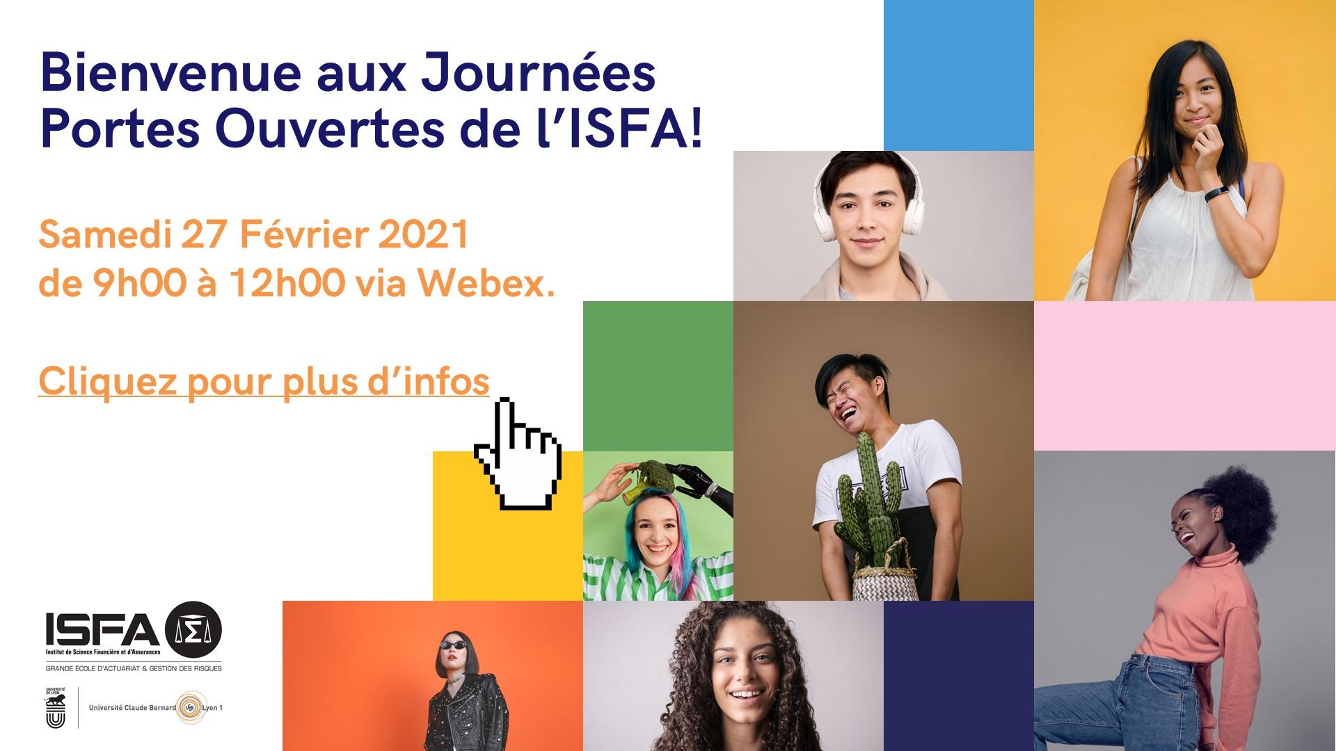 Bienvenue aux JPO ISFA 2021